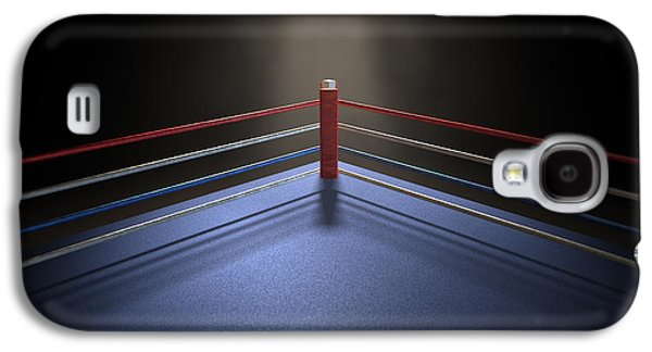 Fight Digital Art Galaxy S4 Cases - Boxing Corner Spotlit Dark Galaxy S4 Case by Allan Swart