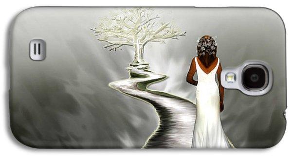 Spiritual Portrait Of Woman Digital Art Galaxy S4 Cases - Bride of Christ  Galaxy S4 Case by Jennifer Page