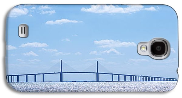 Sunshine Skyway Bridge Galaxy S4 Cases - Bridge Across A Bay, Sunshine Skyway Galaxy S4 Case by Panoramic Images