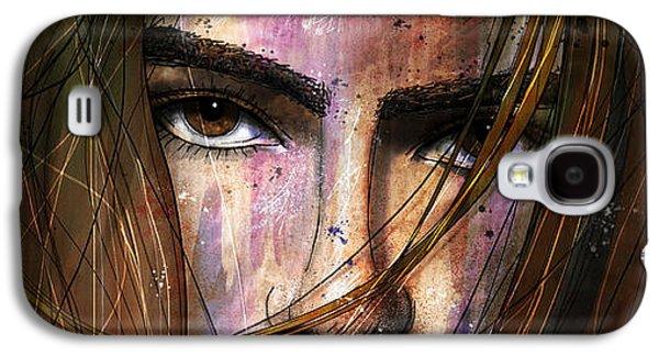Girl Galaxy S4 Cases - Brown Iris Entangled Galaxy S4 Case by Gary Bodnar