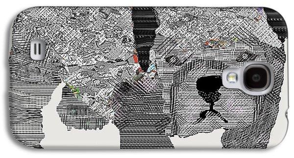 Dogs Digital Art Galaxy S4 Cases - Bulldog Begins Galaxy S4 Case by Bri Buckley