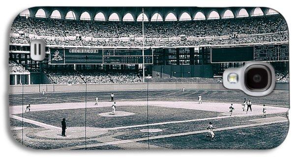 Philadelphia Phillies Stadium Galaxy S4 Cases - Busch Stadium - St Louis 1966 Galaxy S4 Case by Mountain Dreams