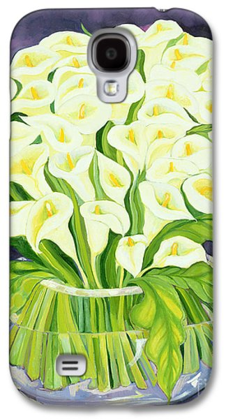 In Bloom Galaxy S4 Cases - Calla Lilies Galaxy S4 Case by Laila Shawa