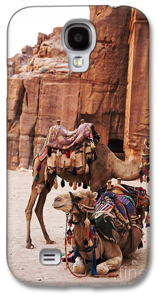 Transportation Pyrography Galaxy S4 Cases - Camels Galaxy S4 Case by Jelena Jovanovic