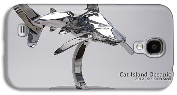 Sharks Sculptures Galaxy S4 Cases - Cat Island Oceanic shark Galaxy S4 Case by Victor Douieb