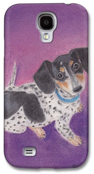 Dogs Pastels Galaxy S4 Cases - Cecily Galaxy S4 Case by Theresa Stinnett