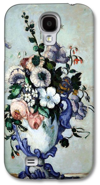 Cora Wandel Galaxy S4 Cases - Cezannes Flowers In A Rococo Vase Galaxy S4 Case by Cora Wandel