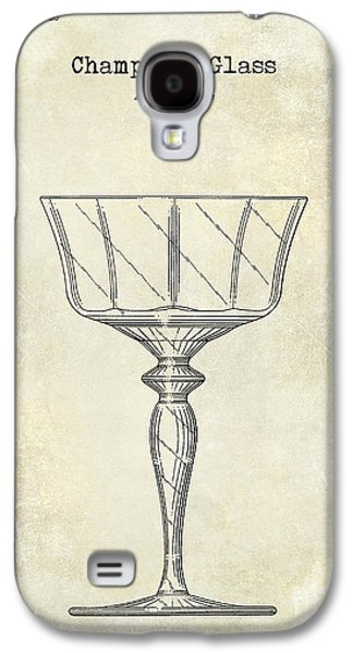Champagne Glasses Galaxy S4 Cases - Champagne Glass Patent Drawing Galaxy S4 Case by Jon Neidert