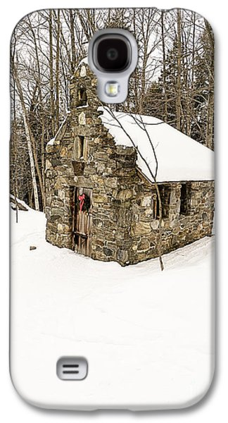 Christmas Greeting Galaxy S4 Cases - Chapel in the Woods Stowe Vermont Galaxy S4 Case by Edward Fielding
