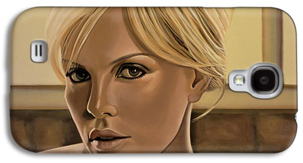 Peter Paintings Galaxy S4 Cases - Charlize Theron Galaxy S4 Case by Paul  Meijering