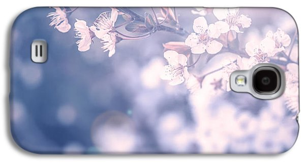 Nature Abstract Galaxy S4 Cases - Cherry tree blossom Galaxy S4 Case by Anna Omelchenko