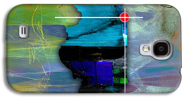 Chicago Galaxy S4 Cases - Chicago Illinois Map Watercolor Galaxy S4 Case by Marvin Blaine
