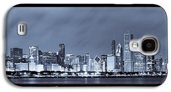 Light Galaxy S4 Cases - Chicago Skyline at Night Galaxy S4 Case by Sebastian Musial