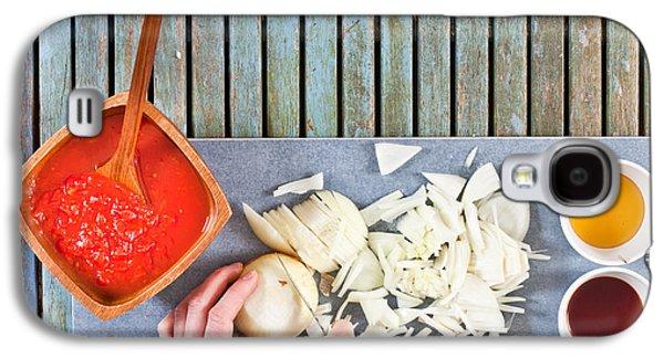 Vinegar Galaxy S4 Cases - Chopping onions Galaxy S4 Case by Tom Gowanlock