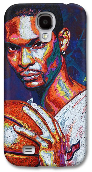 Nba Paintings Galaxy S4 Cases - Chris Bosh Galaxy S4 Case by Maria Arango