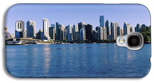 Built Structure Galaxy S4 Cases - City Skyline, Vancouver, British Galaxy S4 Case by Panoramic Images