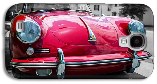 Studio Photographs Galaxy S4 Cases - Classic Red Porsche Sports Car Galaxy S4 Case by Edward Fielding
