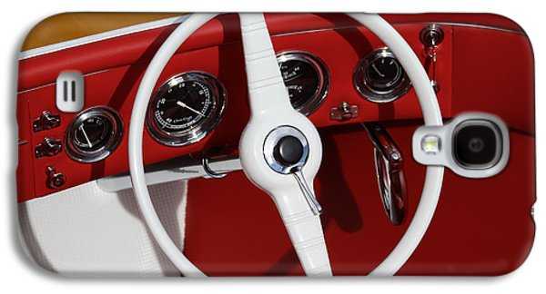 Mahogany Red Galaxy S4 Cases - Classic Speedboats Galaxy S4 Case by Steven Lapkin