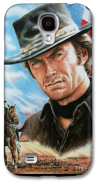 4th July Paintings Galaxy S4 Cases - Clint Eastwood American Legend Galaxy S4 Case by Andrew Read