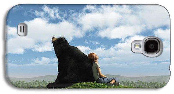 Bear Digital Galaxy S4 Cases - Cloud Watchers Galaxy S4 Case by Cynthia Decker