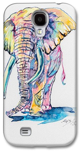 Colorful Elephant Galaxy S4 Case by Kovacs Anna Brigitta