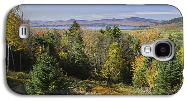 Autumn Landscape Photographs Galaxy S4 Cases - Colorful Fall Forest Near Rangeley Maine Galaxy S4 Case by Keith Webber Jr