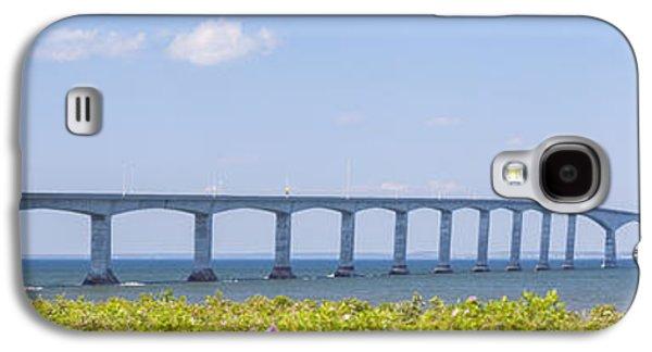 Landmarks Photographs Galaxy S4 Cases - Confederation Bridge panorama Galaxy S4 Case by Elena Elisseeva