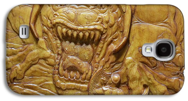 Bas Relief Reliefs Galaxy S4 Cases - Confrontation Galaxy S4 Case by Jeremiah Welsh