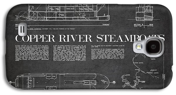 Steamboat Galaxy S4 Cases - Copper River Steamboats Blueprint Galaxy S4 Case by Aged Pixel