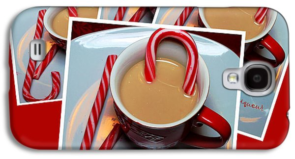 Cheer On Galaxy S4 Cases - Cup of Christmas Cheer - Candy Cane - Candy - Irish Cream Liquor Galaxy S4 Case by Barbara Griffin