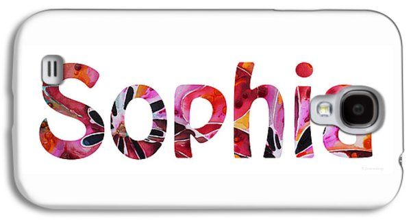 Customized Galaxy S4 Cases - Customized Baby Kids Adults Pets Names - Sophia Name Galaxy S4 Case by Sharon Cummings