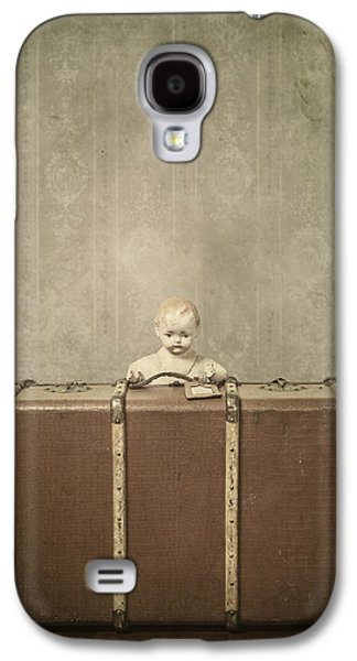 Creepy Galaxy S4 Cases - Doll In Suitcase Galaxy S4 Case by Joana Kruse