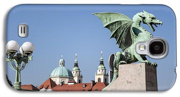 Dragon Bridge. Ljubljana. Galaxy S4 Case by Fernando Barozza
