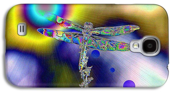 Abstract Digital Digital Art Galaxy S4 Cases - Dragonfly In The Sun   Galaxy S4 Case by Jeff  Swan