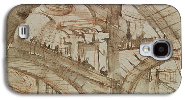 Drawing Of An Imaginary Prison Galaxy S4 Case by Giovanni Battista Piranesi
