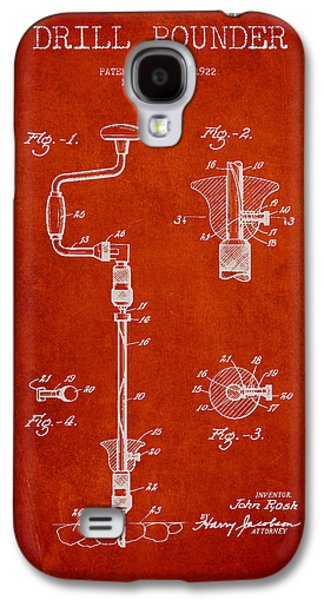 Manual Galaxy S4 Cases - Drill Pounder Patent Drawing From 1922 Galaxy S4 Case by Aged Pixel