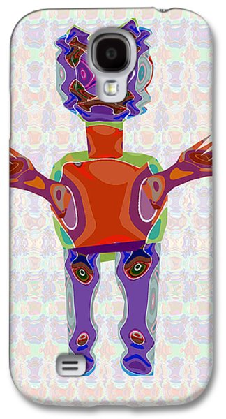 Satire Mixed Media Galaxy S4 Cases - Duckelle Cartoon Character  Alien Monster Art Graphic Design Digital complex funny comic collage col Galaxy S4 Case by Navin Joshi