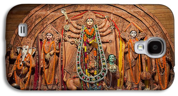 Goddess Durga Galaxy S4 Cases - Durga Puja festival Galaxy S4 Case by Rudra Narayan  Mitra