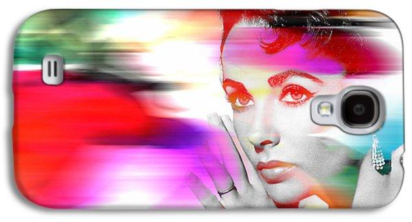 Elizabeth Galaxy S4 Cases - Elizabeth Taylor Galaxy S4 Case by Marvin Blaine