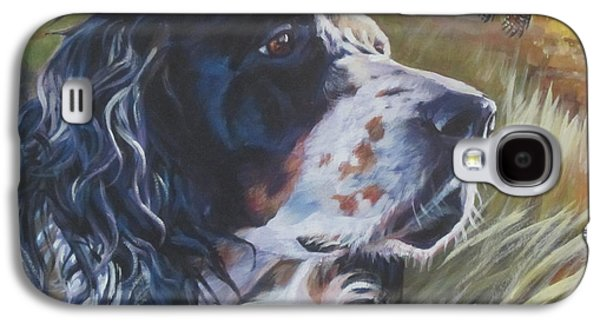 Puppies Galaxy S4 Cases - English Setter Galaxy S4 Case by Lee Ann Shepard