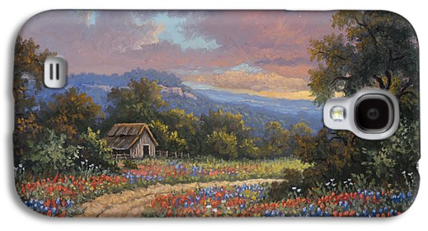 Old Barns Paintings Galaxy S4 Cases - Evening Medley Galaxy S4 Case by Kyle Wood
