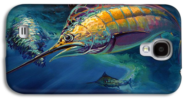 Sportfishing Galaxy S4 Cases - Eye On The Ball Galaxy S4 Case by Mike Savlen