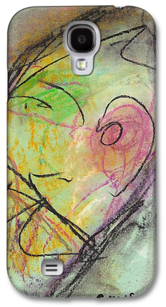 Person Pastels Galaxy S4 Cases - Face Study No. 10 Galaxy S4 Case by Christopher Winkler