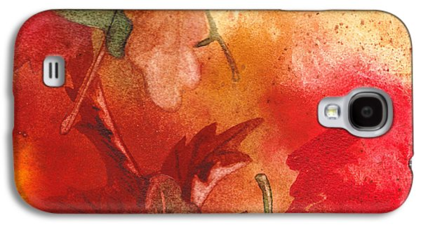 Maple Season Paintings Galaxy S4 Cases - Fall Impressions Galaxy S4 Case by Irina Sztukowski