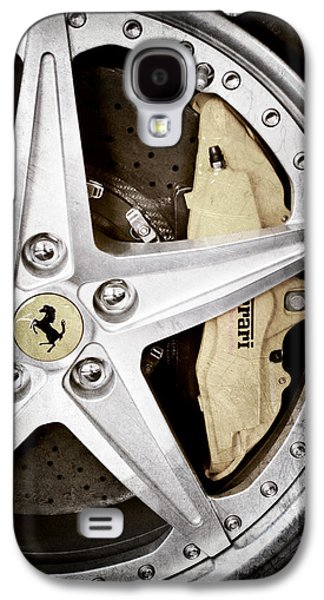 Transportation Photographs Galaxy S4 Cases - Ferrari Wheel Emblem Galaxy S4 Case by Jill Reger