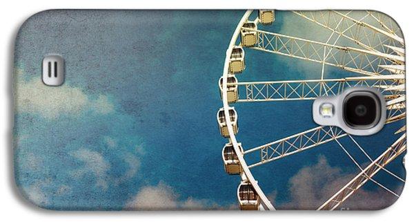 Enjoying Galaxy S4 Cases - Ferris wheel retro Galaxy S4 Case by Jane Rix