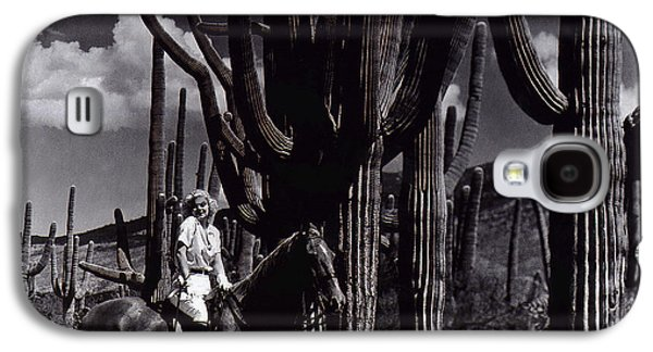 Duo Tone Galaxy S4 Cases - Film Homage Jean Harlow Bombshell 1933 Saguaro National Monument Tucson Arizona Duo-tone 2008 Galaxy S4 Case by David Lee Guss