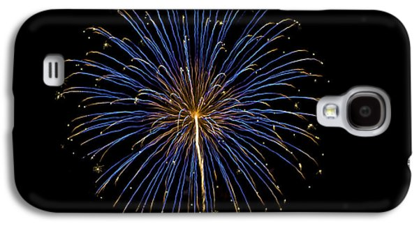 4th July Galaxy S4 Cases - Fireworks bursts colors and shapes Galaxy S4 Case by SC Heffner