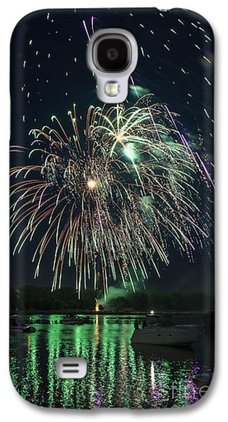 4th July Galaxy S4 Cases - Fireworks On The River Galaxy S4 Case by Michael Shake