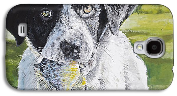 Puppies Galaxy S4 Cases - First Catch Galaxy S4 Case by Aaron Spong